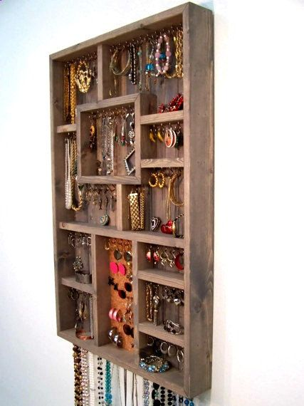 Jewelry Display Case Jewelry Organizer by barbwireandbarnwood, $128.00--Wow!!  I think I could fill it!!
