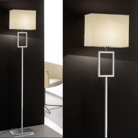 Essentials Interdi Floor Lamp in Chrome A