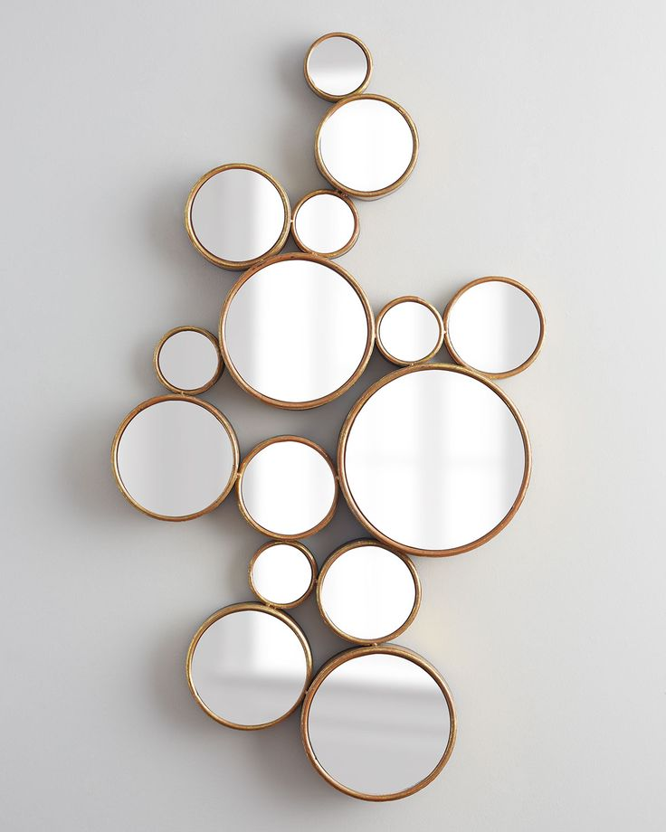 Bubbles Mirror, Gold