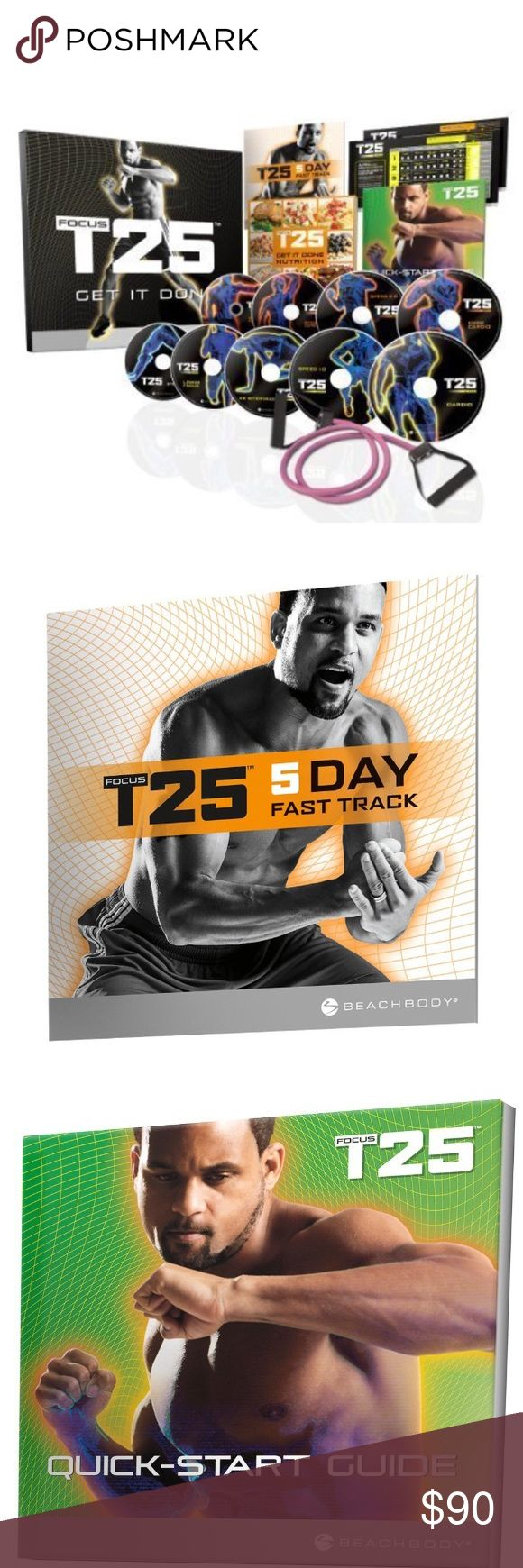 Shaun T25 Workout DVD Program Get It Done 25 Mins NWOT I Bought for myself but had surgery during this time and was told to not exercise by my doctor 😕. So it's still new in the box!!📦 Workout DVD Program—Get It Done in 25 MinutesFeatures T25. Includes 11 nonstop 25-minute workouts on 9 DVDs, Quick-Start Guide, Nutrition Plan, Workout Calendars, B-LINES Resistance Band (15 lb.), and 5-Day Fast Track Guide (located inside shrink wrap)Major studies show that 30 mins of exercise is as…