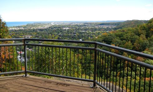 Beamer Memorial Conservation Area - great lookouts of Grimsby and Lake Ontario