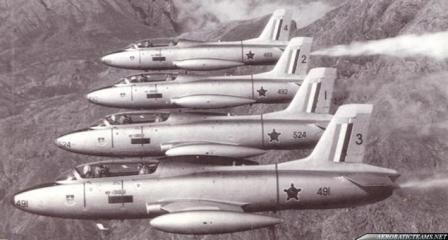 Their first show on 24 November 1967, at the opening of the Atlas Aircraft Corporation flying the Aermacchi MB326 (Impala).