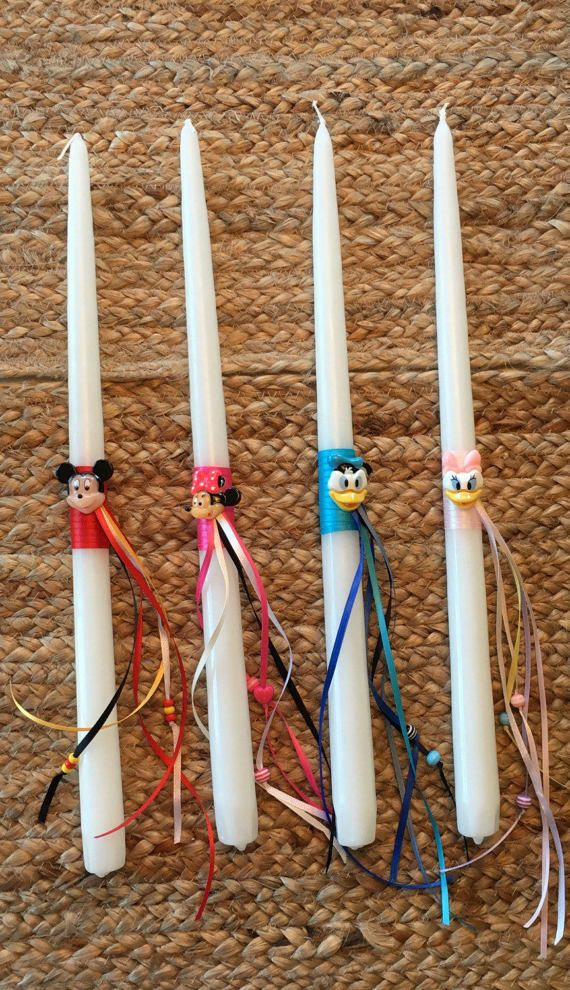 Disney Friends Greek Easter Candle Lambada by KoulEvents on Etsy