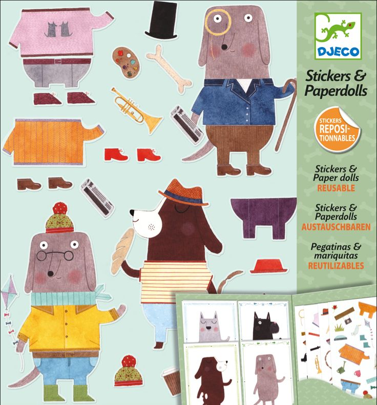 #Stickers & #Paper #Dolls by #Djeco hond stickers & paper dolls 6-11j from www.kidsdinge.com http://instagram.com/kidsdinge https://www.facebook.com/kidsdinge/ #kidsdinge #onlinestore #Kidsroom #babyroom #Toys #Speelgoed #worldwideshipping