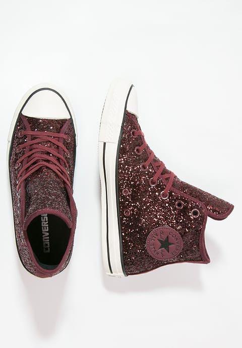Chaussures Converse CHUCK TAYLOR ALL STAR HI GLITTER - Baskets montantes -  port glitter/egret