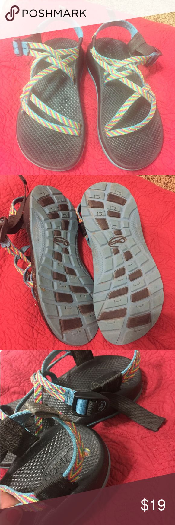 Chaco's sandals!  Fits size women 6,5 In good used condition. Worn 5/6 times or so. Kids, but fit a size 6/6.5 women's. Chaco Shoes Sandals