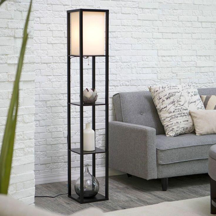 Lighting Floor Lamp Wright Etagere Tall 3 Shelves Display Storage Yoga Room NEW #Adesso