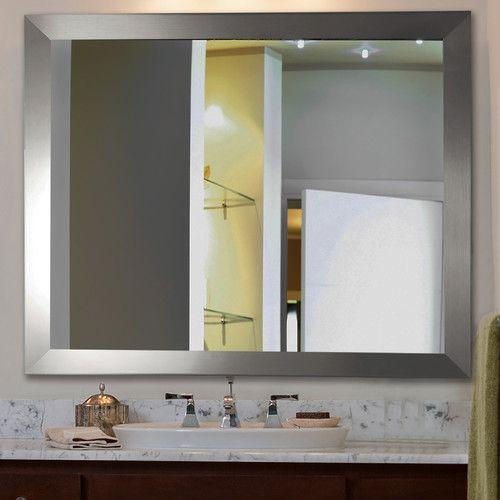 The Awesome Web Rayne Mirrors Ava Modern Wall Mirror Bathroom Vanity