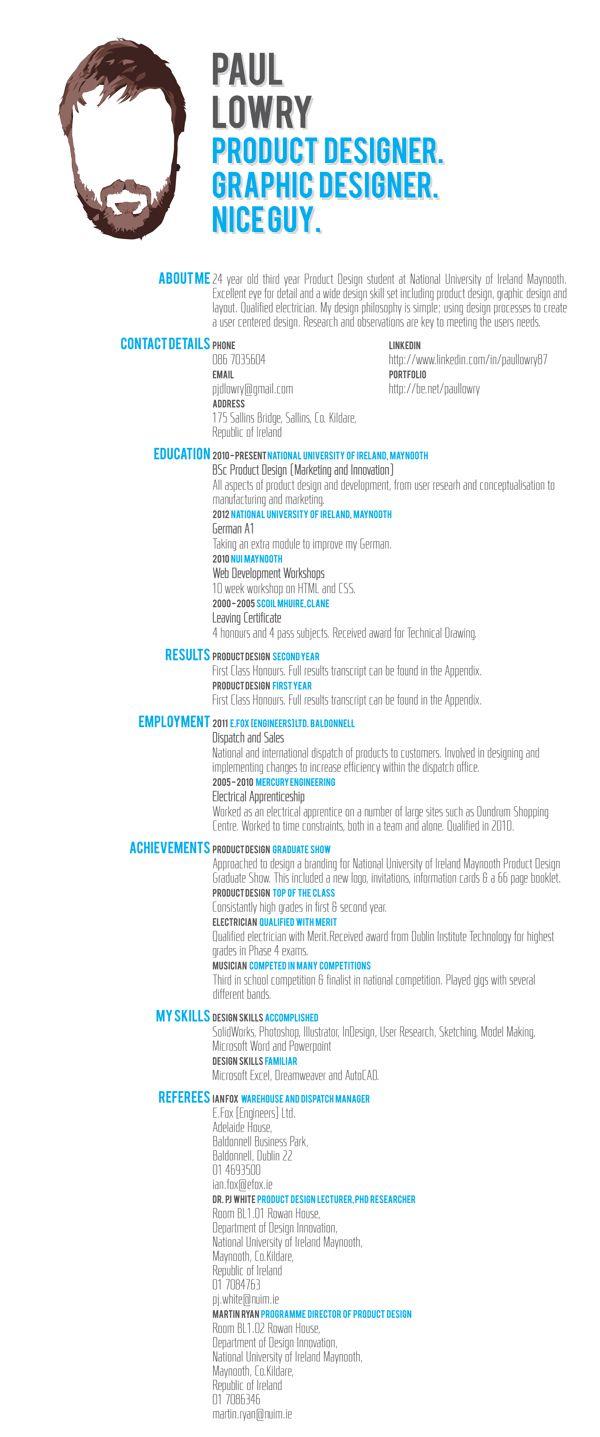 Die 99 besten Bilder zu | Creative Resume | auf Pinterest ...