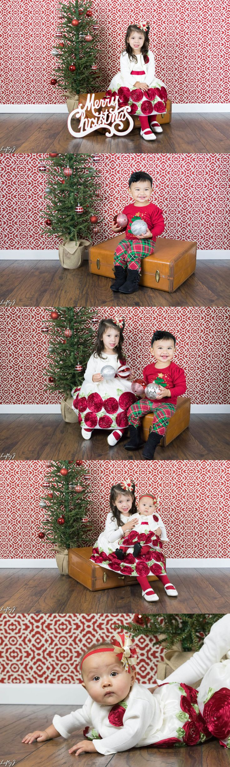 This weekend we got to do a Christmas shoot with our niece Gracelynn, her little sister Jaelynn, and our other niece Alayna. It was so much fun. They loved playing with the Christmas ornaments.  There's still time to book an indoor or outdoor Christmas session with us. http://www.leftyjphotography.com  #corpuschristiphotography #corpuschristiphotographer #kidphotography #babyphotography #christmasphotos #christmasphotography
