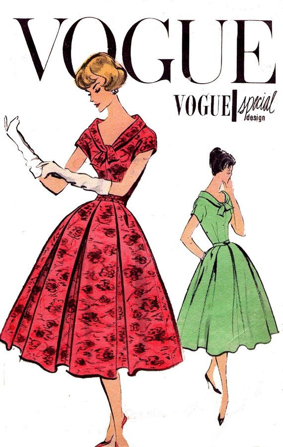1950s Vintage Vogue Special Design Pattern by allthepreciousthings, $65.00