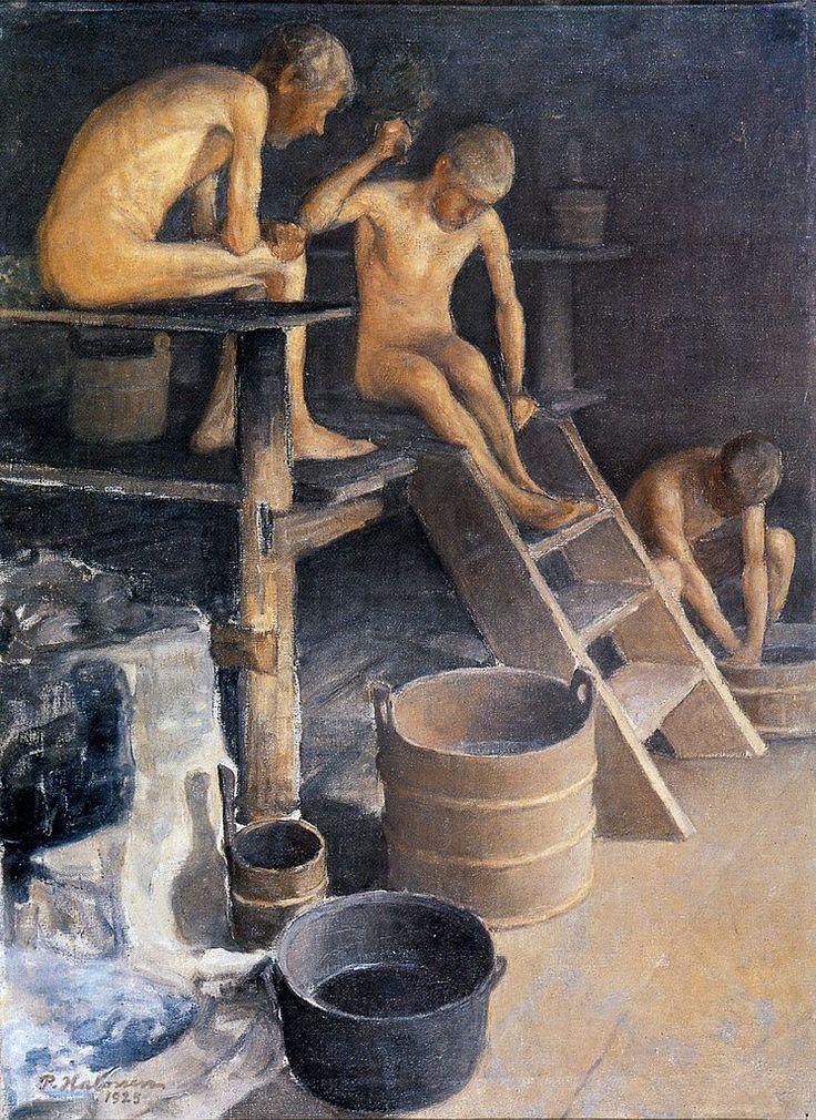 The Athenaeum - In the Sauna (Pekka Halonen - )