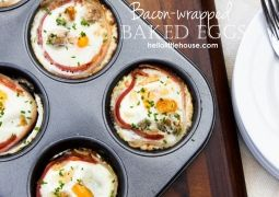 Bacon-wrapped baked eggs: Bacon Wrapped, Baked Eggs, Little Houses, Baconwrap Baking, Food Ideas, Cooking, Bacon Wraps Baking Eggs Hlh, Baking Bacon, Breakfast Brunch