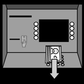 guichet automatique bancaire: prendre argent