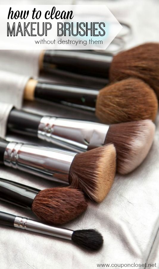 How to clean Makeup Brushes without ruining them. This easy tips will keep the bacteria out of your brushes and keep them lasting even longer!