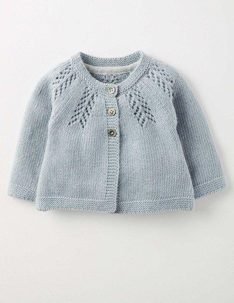 Kuscheliger Baby-Cardigan (Hyazinthenblau)