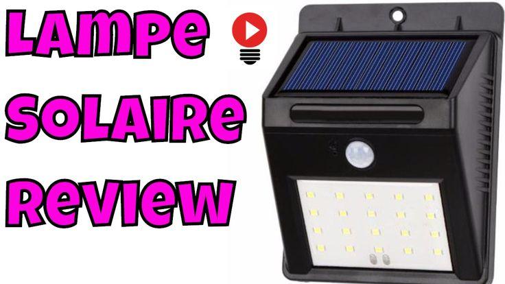 Lumiere LED Solaire Exterieur Résistante a l'eau Détecteur Mouvement Rev...