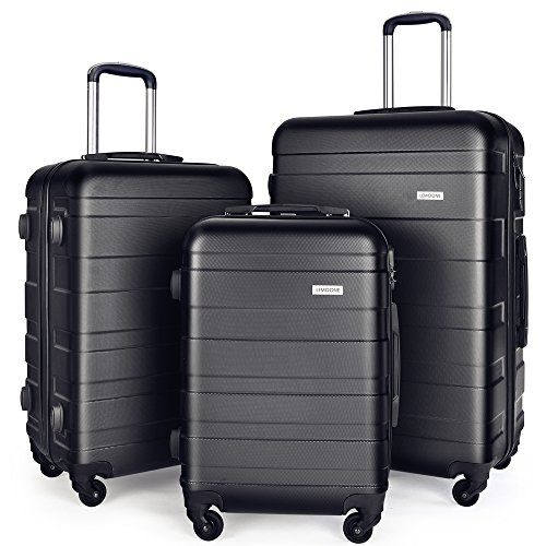 New Trending Luggage: Luggage Set Spinner Trolley Suitcase Hard Shell Carry On 20″ 24″ 28″ (Black). Luggage Set Spinner Trolley Suitcase Hard Shell Carry On 20″ 24″ 28″ (Black)   Special Offer: $119.99      288 Reviews Best choice for Traveling ,perfectly fit for business or family use Transport your travel essentials effortlessly and stylishly. This extremely lightweight and durable...