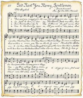 vintage Christmas sheet music