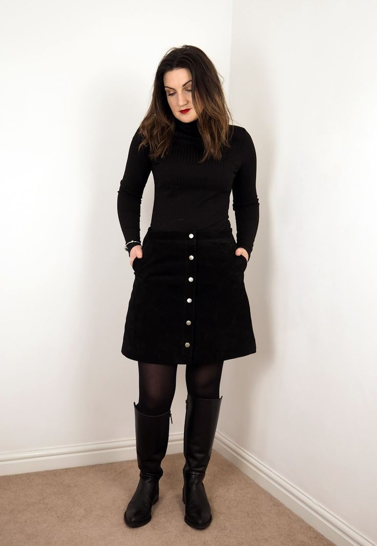 Inside my Wardrobe: The Suede Skirt Black suede a-line ...