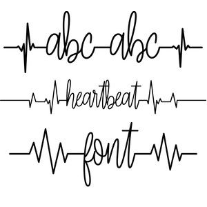 Silhouette Design Store - View Design #153760: heartbeat font