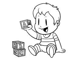 Resultado de imagen para nene animada para colorear  2d50b5d1efc