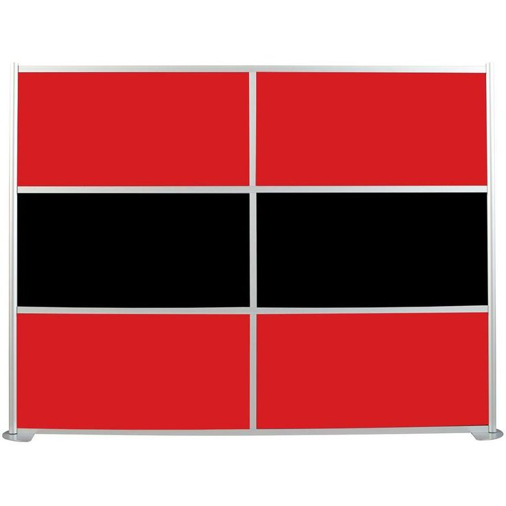 Unique Contractors Wardrobe uDivide ft Red and Black Panel Room Divider Satin