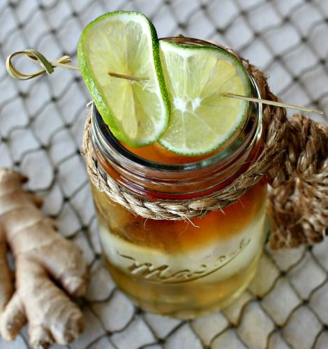 Classic Dark and Stormy with hard ginger beer.