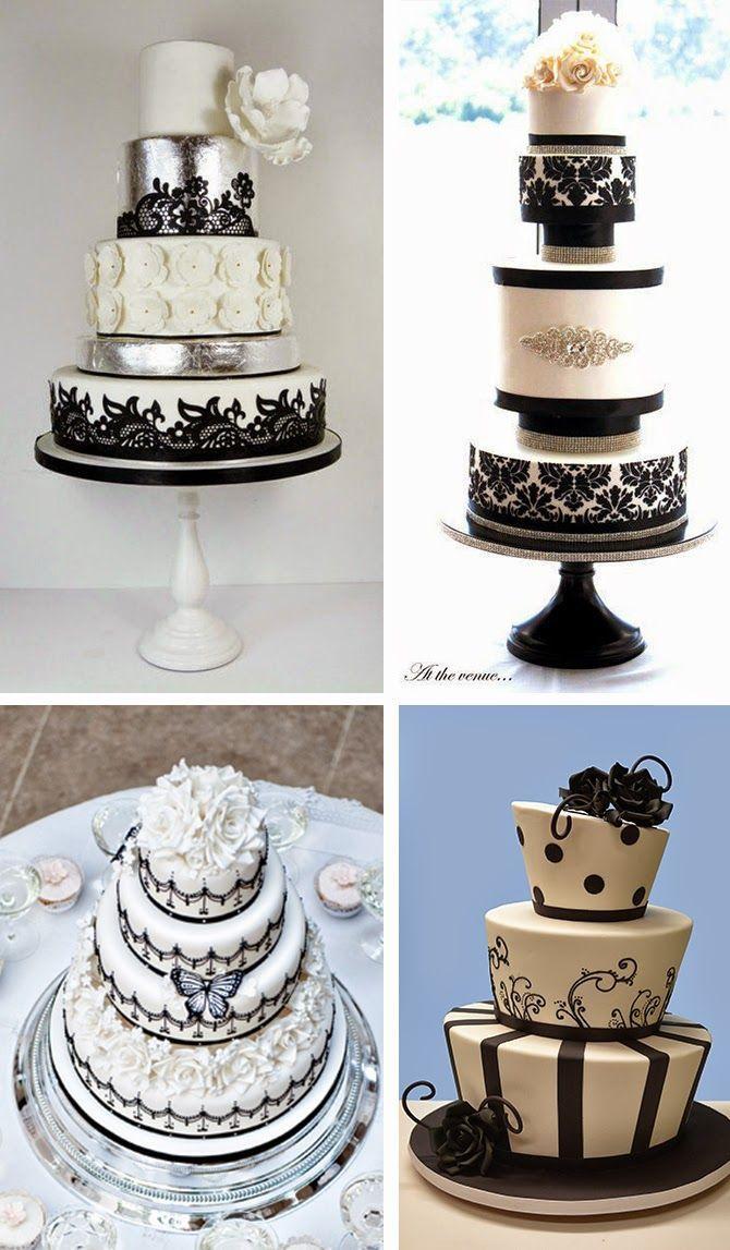 Definitivamente o preto não é a primeira cor que nos vem à cabeça quando falamos de casamento ou de bolos de noivos.  Aqui ficam alguns idei...