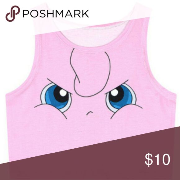 Pokemon sailor moon pink pitty Crop tank top pokemon pink cat. Size small new without tags unknown korean Tops Crop Tops