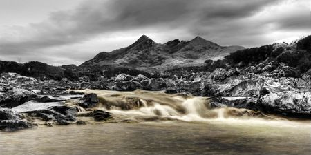 Interior Design and Home Decoration Artwork from Art Australia - buy this original signed print in 3 sizes.  Mountain Rapids Colour by David Rennie available via http://www.art-australia.com/mountain-rapids-colour-by-david-rennie/