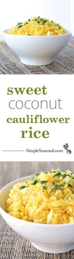 sweet coconut cauliflower rice