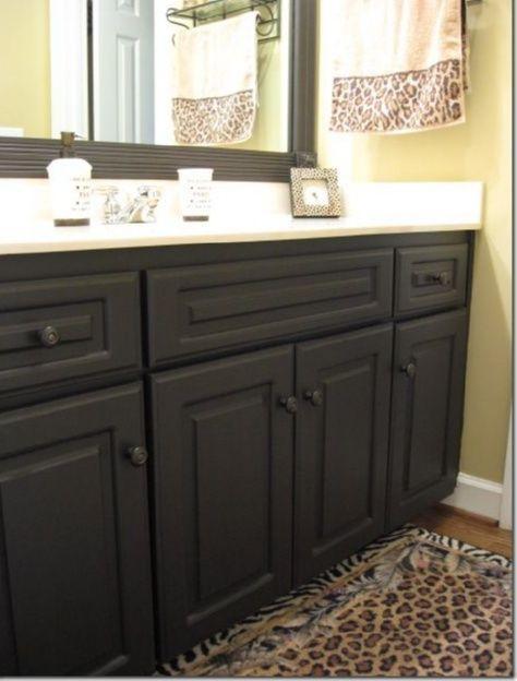 Bathroom Cabinets Ideas Dark Chocolate, Painting Bathroom Cabinets Dark Brown