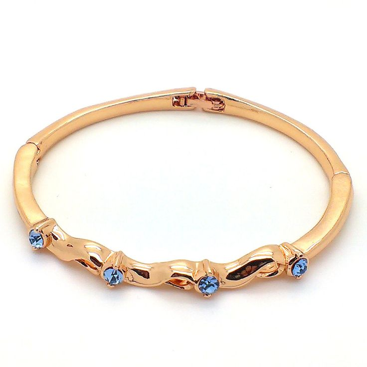 Buy Beora Rose Gold Plated Blue Crystal #Fashion #Bracelet From TrendyMela. Free shipping and Cash on Delivery (COD) Available.