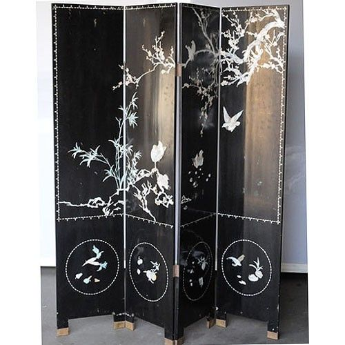 Japanese Style Room Dividers | These Japanese room dividers, with an  elegant bird and branches ... | Screen Panels | Pinterest | Japanese room  divider and ... - Japanese Style Room Dividers These Japanese Room Dividers, With