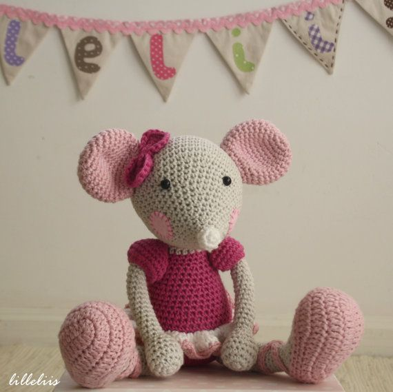 Free Amigurumi Pattern Little Girl Kate : PATTERN - Ballerina-Mouse (crochet, amigurumi)