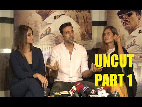 UNCUT interview with Akshay Kumar, Ileana D'Craz, Esha Gupta for RUSTOM movie | PART 1