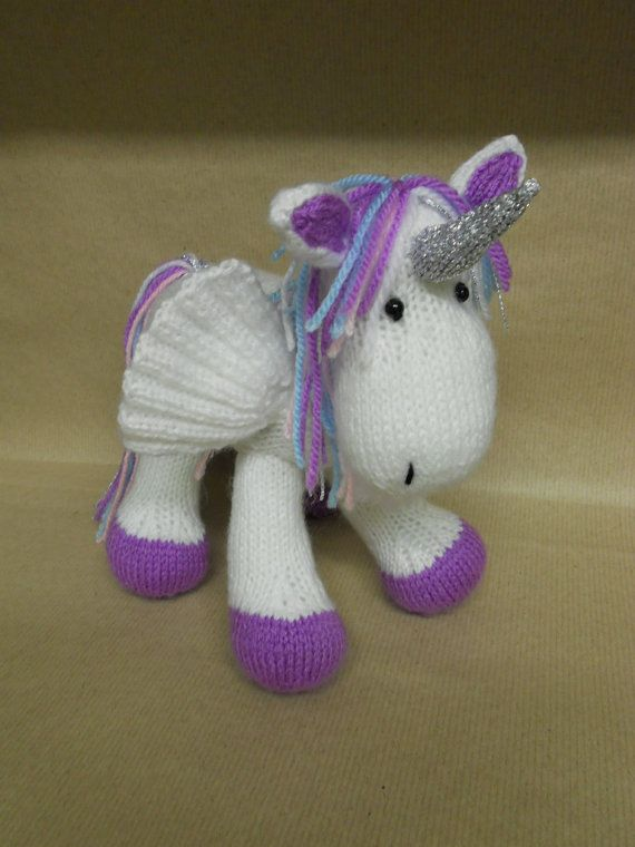 Knitting Pattern For Unicorn Toy : The Pegacorn an enchanting cross between a Unicorn and a ...