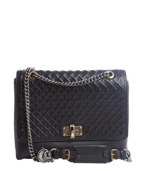 Lanvin black leather 'Happy Edgy' shoulder bag