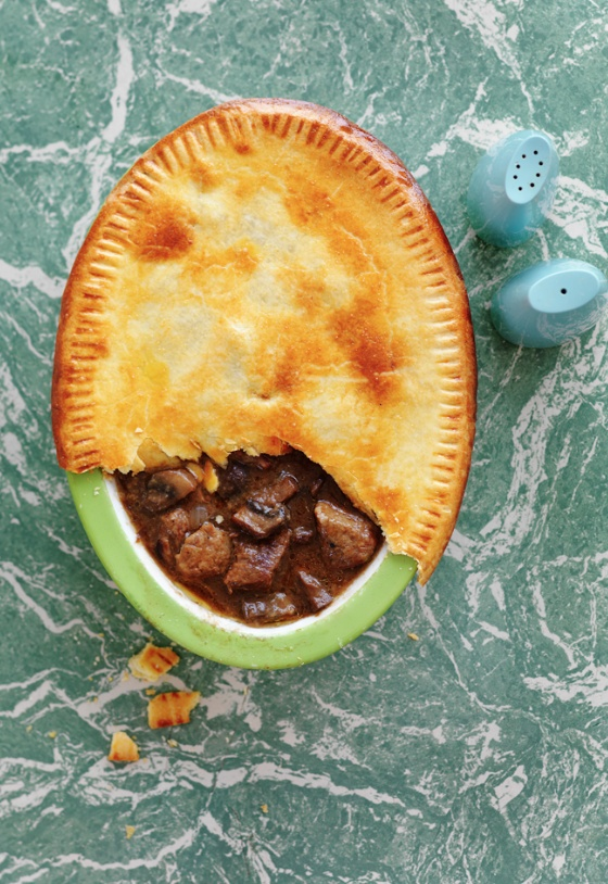 4 of the best perfect pies - beef and guinness pie. Photography by Louise Lister. Recipes & food styling by Katy Holder. From June marie claire