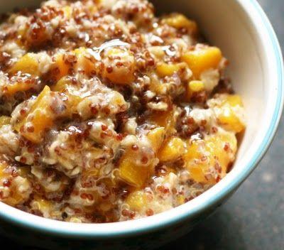 Red Quinoa Peach Porridge: Breakfast Porridge, Rachel Rappaport, Porridge Recipes, Peaches Porridge, Red Quinoa, White Teas, Gluten Free, Teas Syrup, Quinoa Peaches