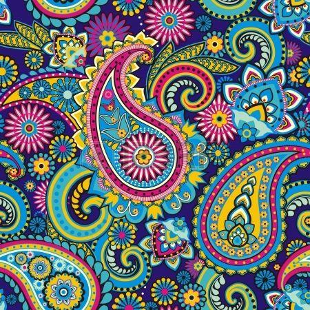 Seamless Pattern Fond?e Sur Des ?l?ments Traditionnels Asiatiques Paisley Clip Art Libres De Droits , Vecteurs Et Illustration. Image 21043380.