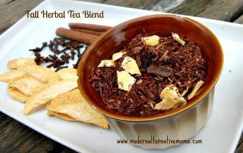 Homemade Fall Blend Herbal Tea Recipe (yum!)