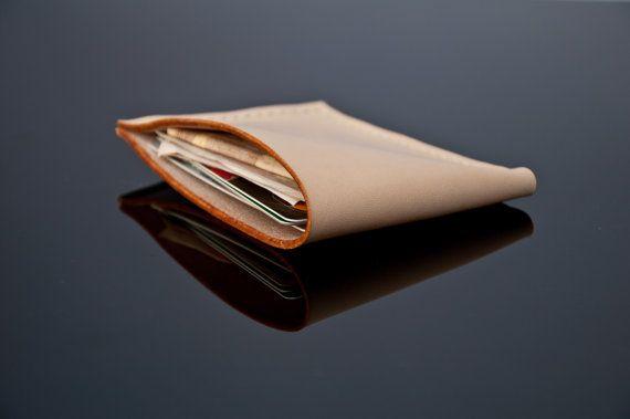 Minimalist Leather Wallet in Latte, Business Wallet, Card Holder, Minimal Wallet, Cardholder, Banknote Holder, Men Wallet, Leather, Gift,Men
