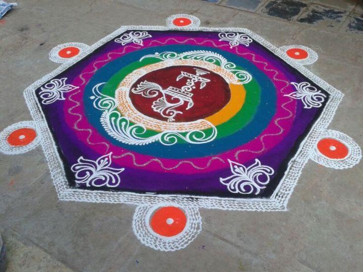#Rangoli Designing #rangoliart #rashtrikalaakadami  #rangolipune #traditionalrangoli