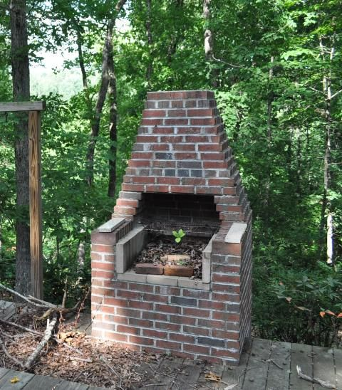 Brick bbq pit old fashioned brick bbq pinterest a for Brick fire pit construction