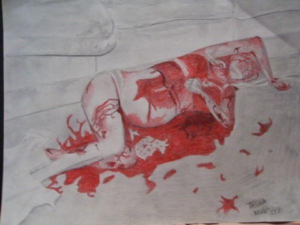 Unedited Sharon Tate Murder | Sharon Tate in death by FreakyArtist on DeviantArt