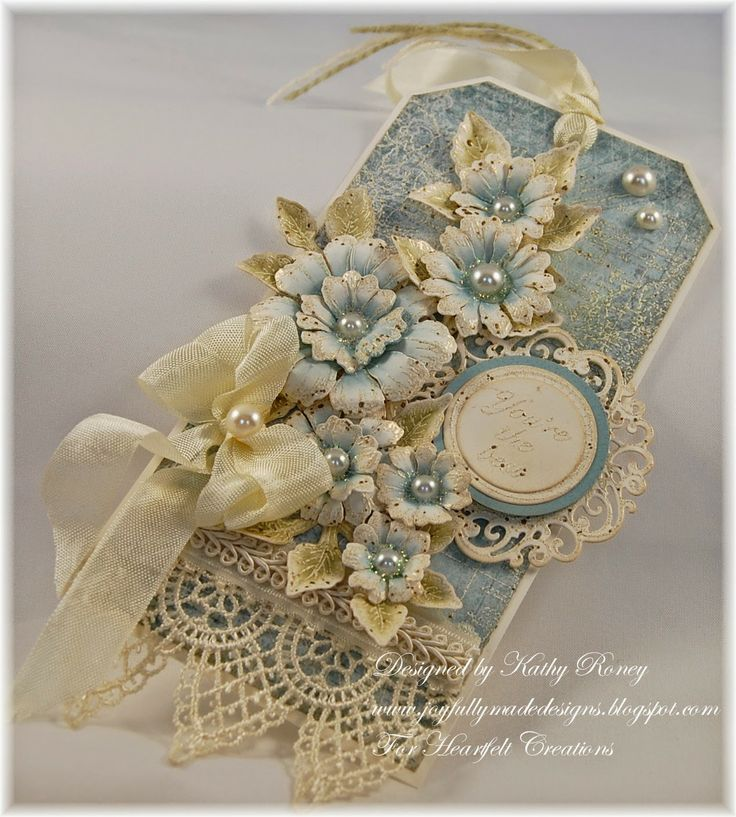 Vintage Floral Tag ♡♥ Heartfelt Creations: Kathleen Roney.