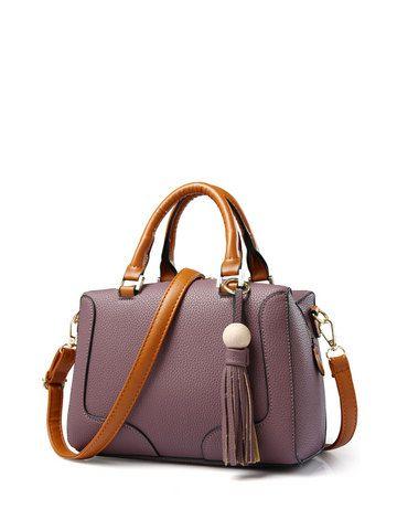 Buy Women's Handbag Personalized Bead Tassel Solid Zipper Bag & Women's Handbags - at Jollychic