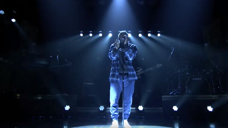 Kendrick Lamar performed a new song on The Tonight Show last night